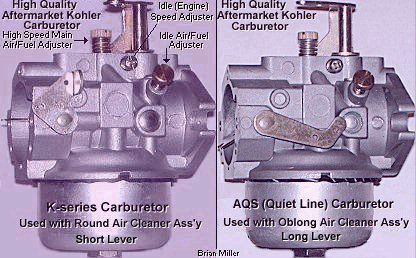 Modifications for the 10-18hp Kohler Carburetor