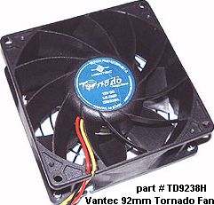 Vantec 92mm Tornado Computer Cooling Fan