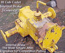 The IH Cub Cadet Transaxle (internal brake model)